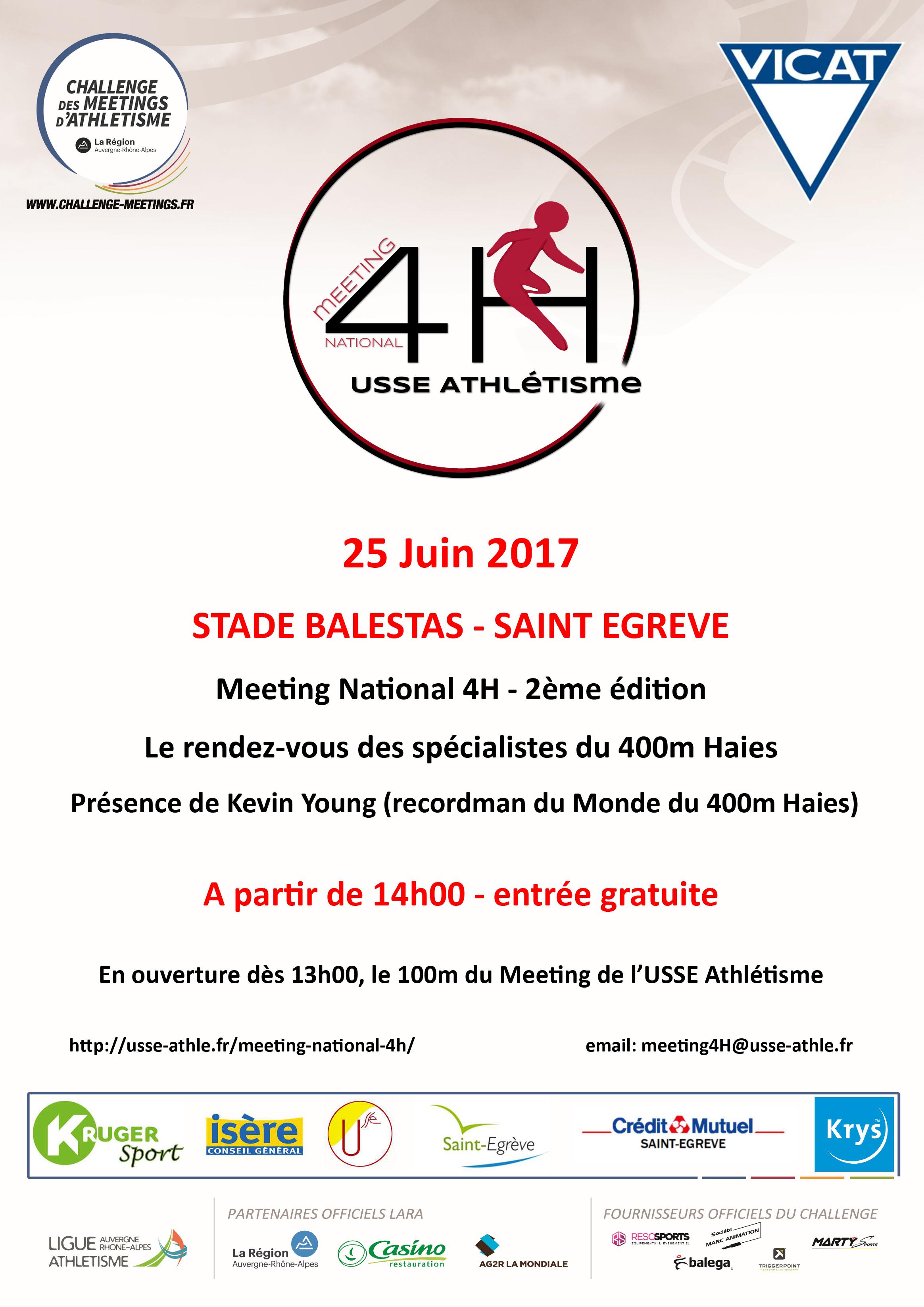 Affiche du meeting 4H Saint-Egrève dimanche 25 juin 2017