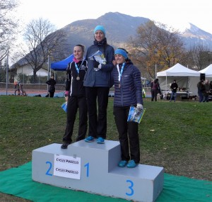 Cross de la Ville de Saint-Egrève 2017: podium de la course AS femmes