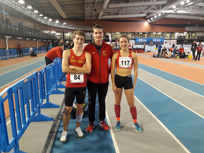 Championnats régionaux AURA épreuves combinées en salle Lyon 13-14 janvier 2018