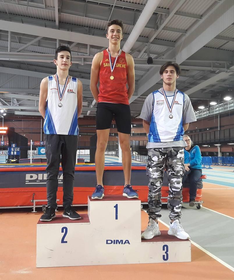 Pierre Blaecke champion régional d'épreuves combinées minimes AURA 2018