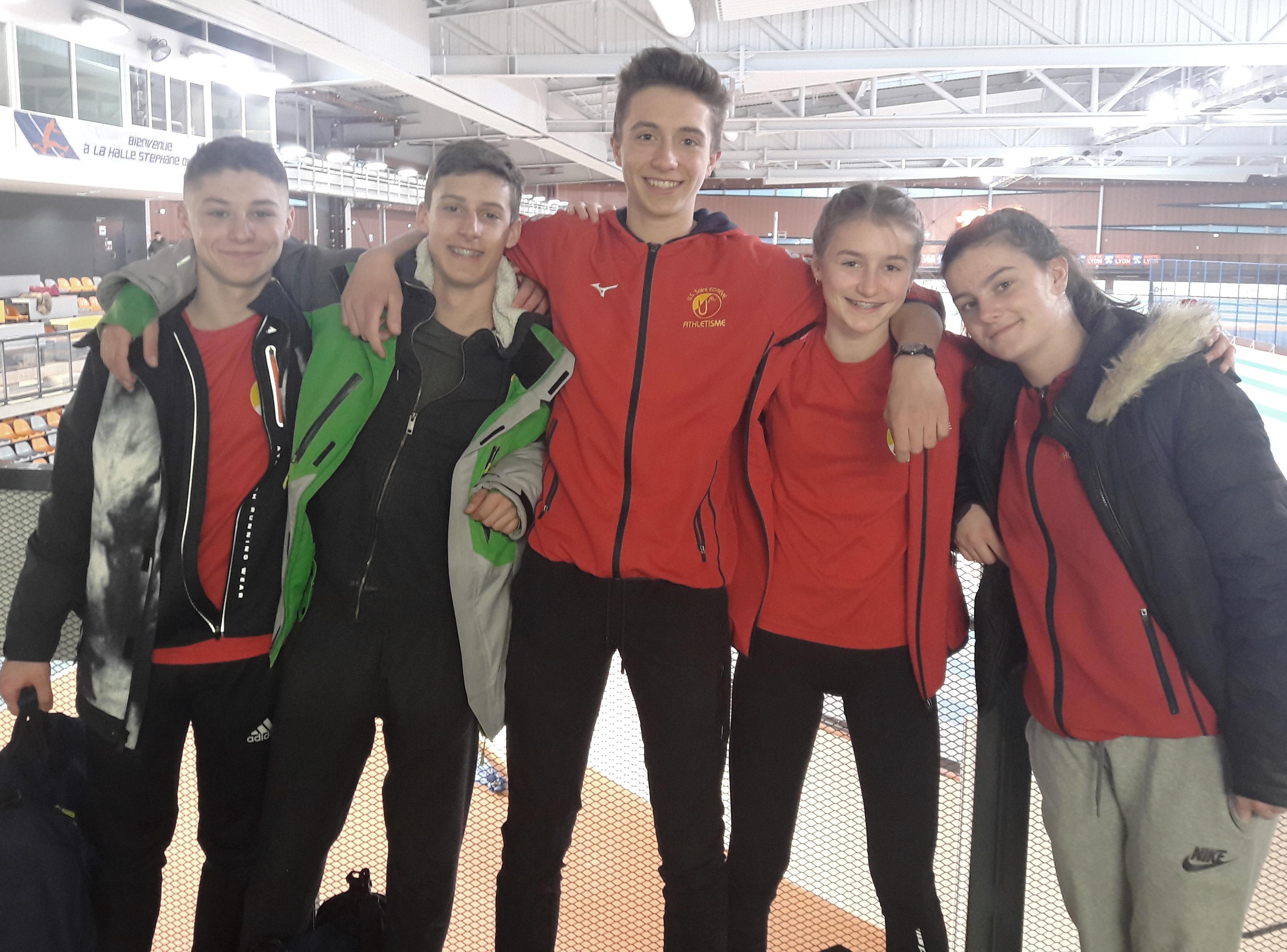 L'USSE à la Finale du Championnat AURA de triathlon en salle minimes à Lyon le 4 mars 2018